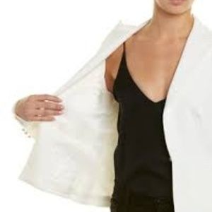 NWT Trina Turk Ivory-White Dress Blazer Jacket 10